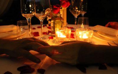 Cena a lume di Candela per san Valentino